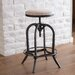 <strong>Home Loft Concept</strong> Desmond Swivel Iron Bar Stool