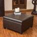 Bostonian Leather Storage Ottoman