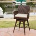 Tony PE Swivel Armed Barstool