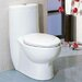 Tall Dual Flush Eco-Friendly Ceramic 0.8 GPF / 1.6 GPF Elongated 1 Piece Toilet