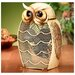 Snow Owl Figurine Table Top Fan