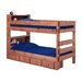 <strong>Twin Over Twin Standard Bunk Bed with Bookcase and Storage</strong> by Chelsea Home
