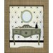 <strong>Parisian Bath II Framed Graphic Art</strong> by Artistic Reflections