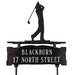 <strong>Two Line Lawn Sign with Golfer</strong> by Montague Metal Products Inc.