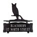 <strong>Two Line Mailbox Sign with Owl</strong> by Montague Metal Products Inc.