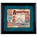 <strong>American Coin Treasures</strong> America Takes Flight Stamp Collection Wall Framed Memorabilia in Black
