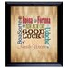 <strong>Good Luck Coins Subway Framed Textual Art</strong> by American Coin Treasures