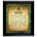 <strong>Irish Blessing with 2 Three Pence Wall Framed Textual Art</strong> by American Coin Treasures