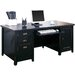 <strong>kathy ireland Home by Martin Furniture</strong> Tribeca Loft Black Double Pedestal Computer Desk