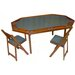 "<strong>Kestell Furniture</strong> 72"" Oak Deluxe Folding Poker Table Set"
