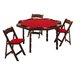 "<strong>Kestell Furniture</strong> 57"" Oak Period Style Folding Poker Table Set"