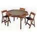 """<strong>57"""" Oak Contemporary Folding Poker Table Set</strong> by Kestell Furniture"""