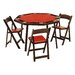 "<strong>52"" Oak Folding Poker Table Set</strong> by Kestell Furniture"