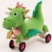 <strong>Wonderworld</strong> Softwood Puffy Dragon Plush Push/Scoot Ride-On