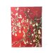 Vincent Van Gogh ''Interpretation in Red Blossoming Almond Tree'' Canvas Art