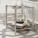 <strong>Arbor Side Table in Brass and White Marble</strong> by Global Views