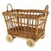 "<strong>Eco Displayware</strong> Eco-Friendly 18"" Rolling Mini Cart"