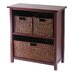 <strong>Milan Storage Shelf with 3 Baskets</strong> by Winsome