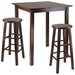 Winsome Parkland 3 Piece Counter Height Pub Table Set
