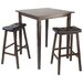 Winsome Kingsgate 3 Piece Counter Height Pub Table Set