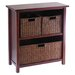 Winsome Milan Storage Shelf with 3 Baskets