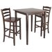 <strong>Winsome</strong> Kingsgate 3 Piece Counter Height Pub Table Set