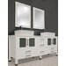 "Cambridge Plumbing White Emerald 65"" Vanity Set"