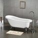 "61"" x 30"" Claw Foot Slipper Tub"