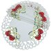 <strong>Xia Home Fashions</strong> Strawberry Embroidered Cutwork Round Doily (Set of 4)