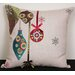 Xia Home Fashions Noel Ornaments Embroidered Holiday Pillow