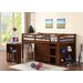 <strong>Donco Kids</strong> Donco Kids Twin Low Loft Bed with Roll-Out Desk, Chest, and Bookcase