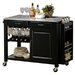 Wholesale Interiors Baxton Studio Phoenix Modern Kitchen Island with Granite Top