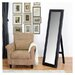 Baxton Studio McLean Modern Mirror with Built in Stand in Dark Brown