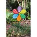 Rainbow Flower LED Yard Spinner