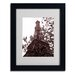 <strong>Trademark Fine Art</strong> Kathy Yates 'Eiffel With Tree' Matted Framed Art