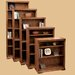 Scottsdale Oak Bookcase with 1 Fixed and 2 Adjustable Shelves