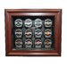 <strong>NHL Twelve Puck Cabinet Style Display Case in Mahogany</strong> by Caseworks International