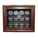 Caseworks International NHL Twelve Puck Cabinet Style Display Case in Mahogany