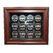 NHL Twelve Puck Cabinet Style Display Case in Mahogany