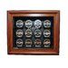 <strong>NHL Twelve Puck Cabinet Style Display Case in Brown</strong> by Caseworks International