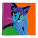 <strong>iCanvasArt</strong> Kitten Blue Canvas Print Wall Art