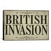 <strong>Color Bakery British Invasion Textual Art on Canvas</strong> by iCanvasArt