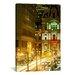iCanvasArt Panoramic Building Lit Up at Night, City Hall, Philadelphia, Pennsylvania, Photographic Print on Canvas