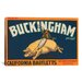 <strong>iCanvasArt</strong> Buckingham California Bartletts Label Vintage Advertisement on Canvas