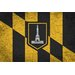 iCanvasArt Baltimore Flag, Grunge Cracks Graphic Art on Canvas
