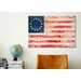 iCanvasArt Betsy Ross, U.S. Flag 13 Stars Graphic Art on Canvas