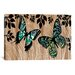 <strong>iCanvasArt</strong> Butterfly Patchwork by Erin Clark Graphic Art on Canvas