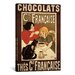 <strong>iCanvasArt</strong> Chocolats Cie Francaise Vintage Advertisement on Canvas