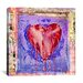 "iCanvasArt ""Bleeding Heart"" by Luz Graphics Graphic Art on Canvas"