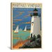 iCanvasArt 'Blue Martha's Vineyard, Maryland' by Anderson Design Group Vintage Advertisement on Canvas